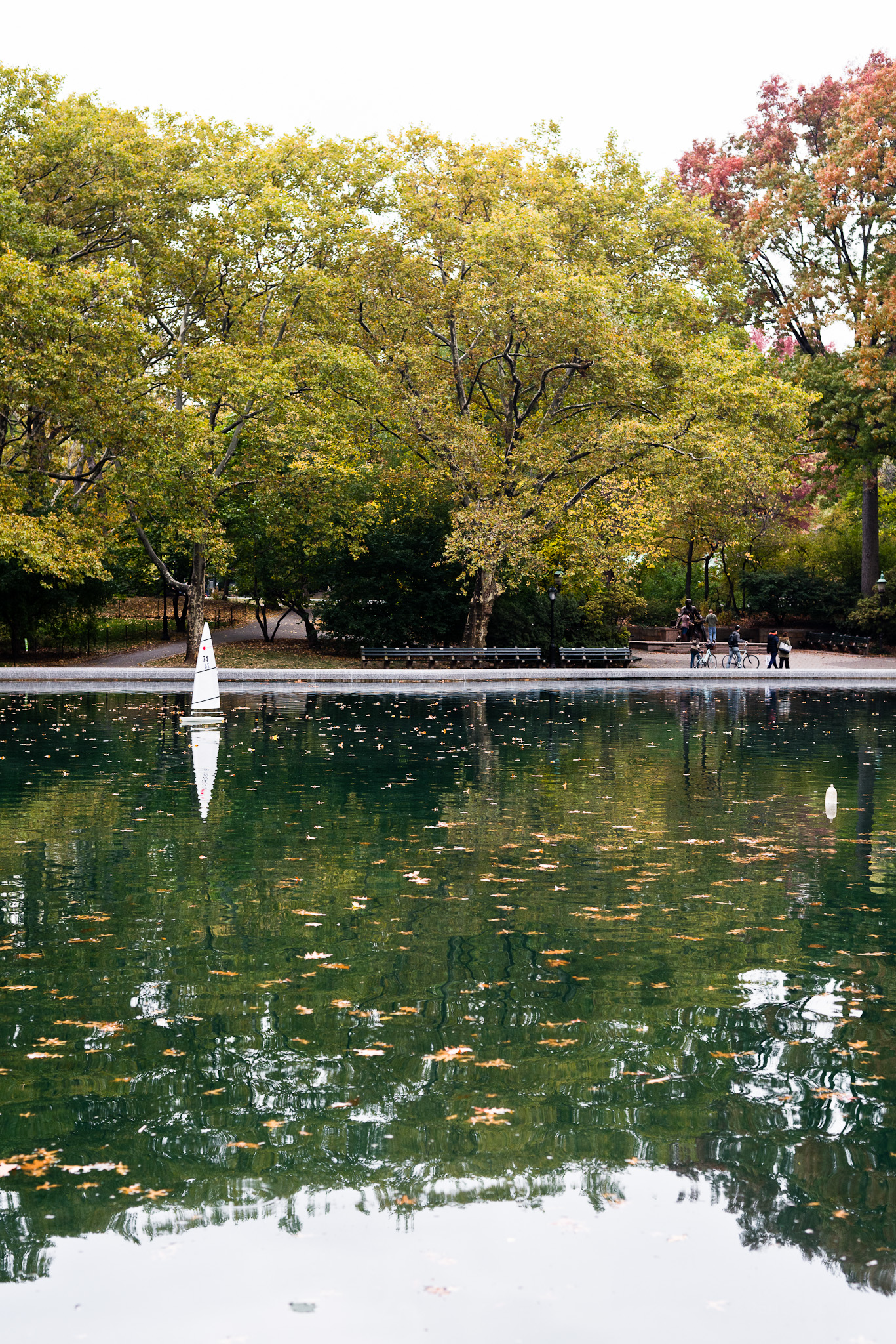 Central Park in Autumn - Boat Pond - flavorsoflight