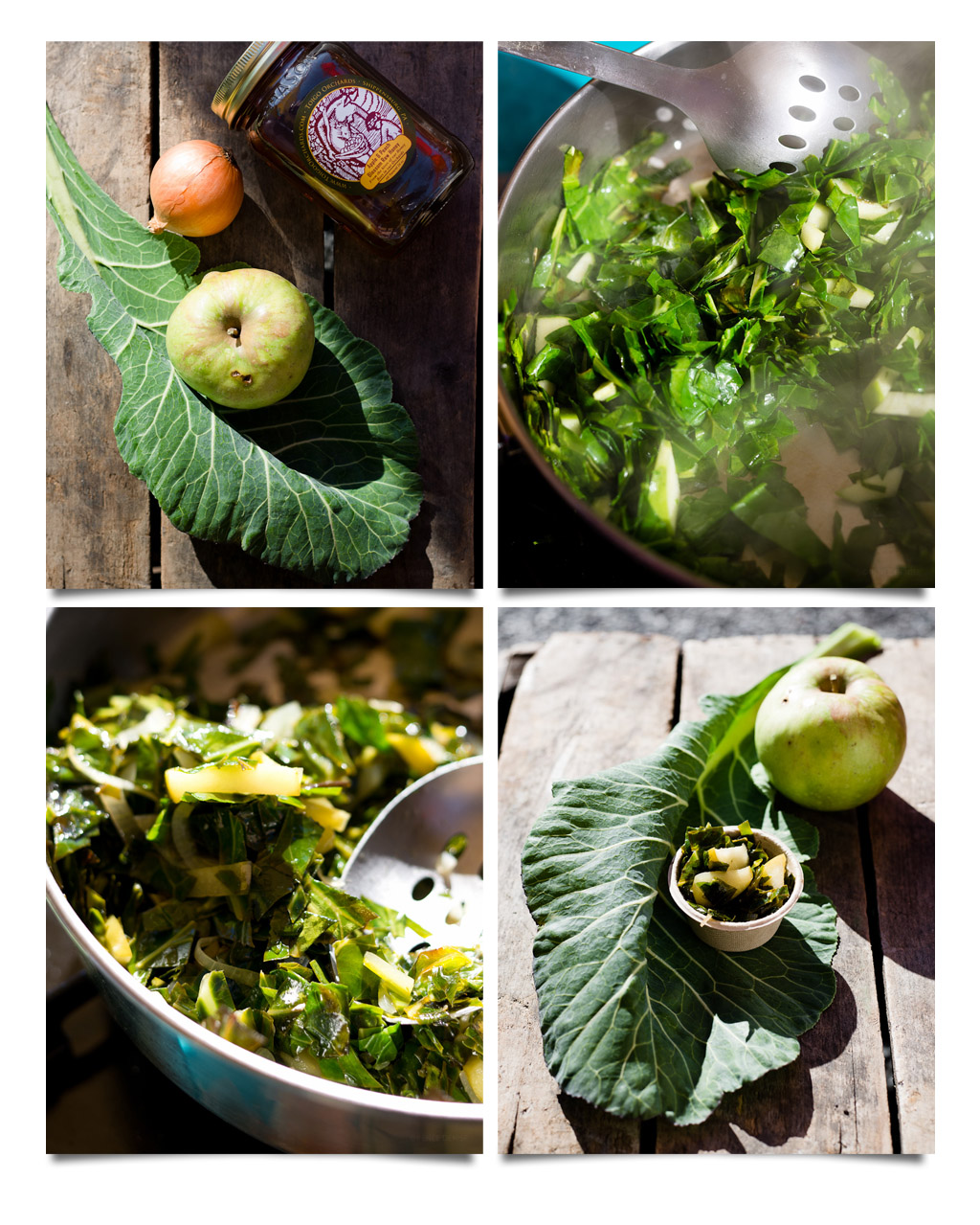 Collard Greens & Apple Saute | Flavors of Light