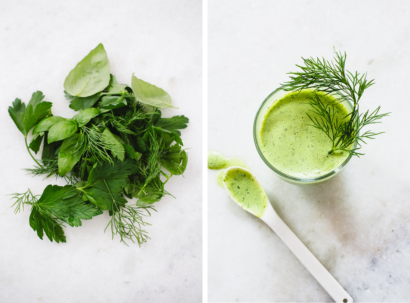 Fresh Herbs & Green Goddess Dressing | Flavors of Light
