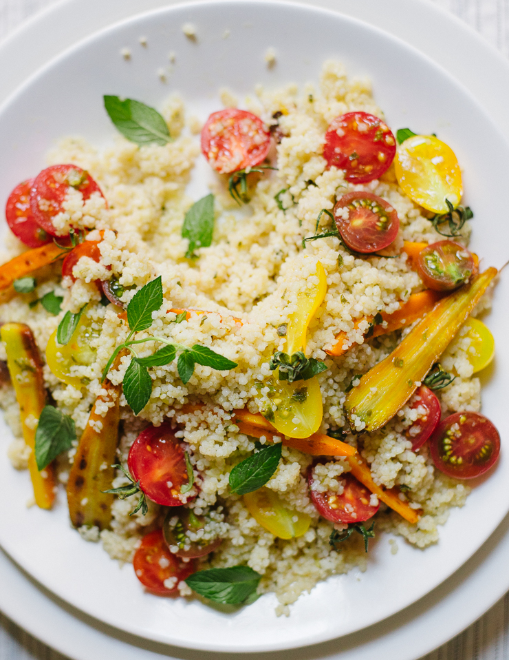 Cherry Tomato & Lemon Basil Couscous Salad |Flavors of Light
