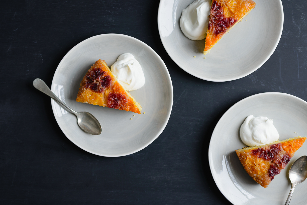 Citrus Polenta Upside-Down Cake | Flavors Of Light