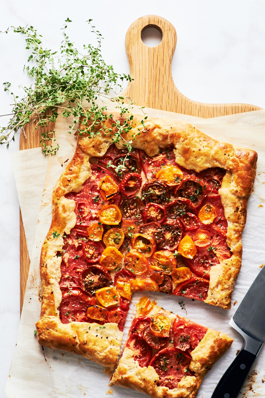 Rustic Tomato Galette Provencal | Flavors of Light