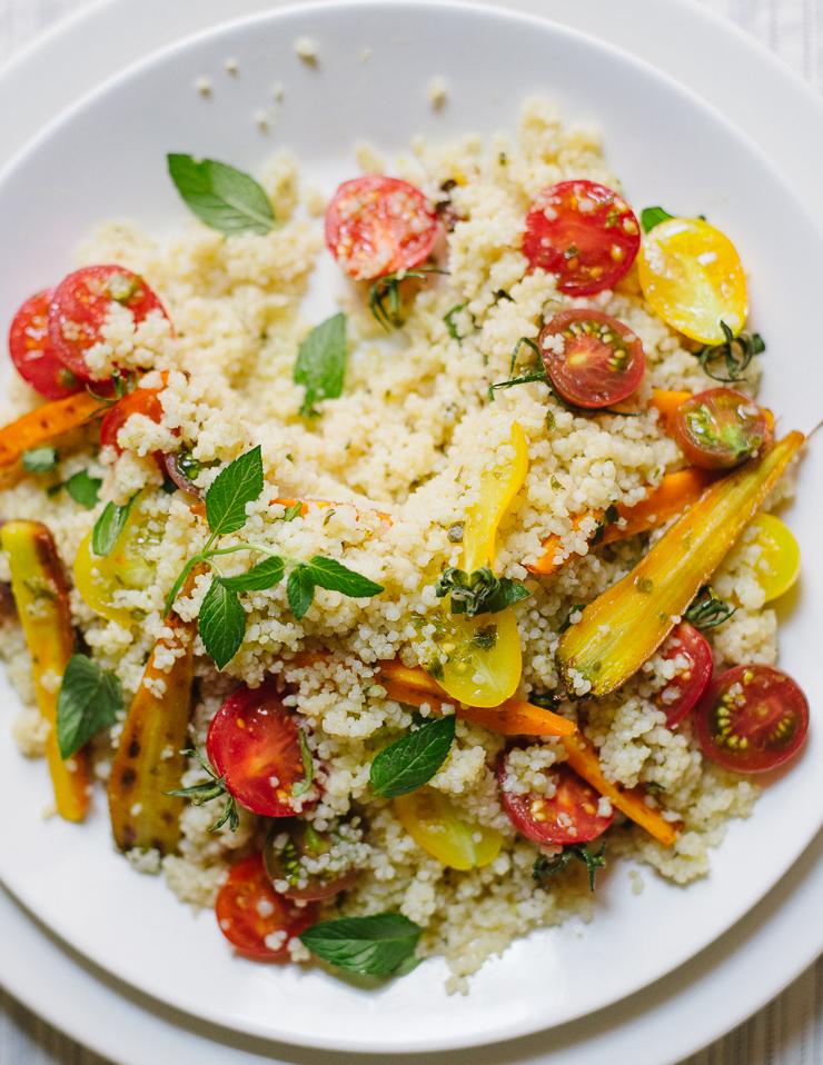 Cherry Tomato & Lemon Basil Couscous Salad  Flavors of Light
